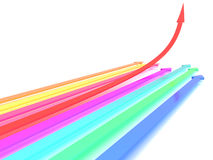Arrows of different colors #3 Stock Image