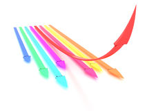 Arrows of different colors #1 Royalty Free Stock Photos