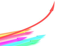 Arrows of different colors #2 Stock Photo