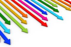 Arrows in different colors Royalty Free Stock Images