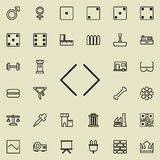 Arrows in different directions icon. Detailed set of minimalistic line icons. Premium graphic design. One of the collection icons. For websites, web design Stock Photography