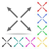 Arrows in different directions icons. Elements of human web colored icons. Premium quality graphic design icon. Simple icon for we. Bsites, web design, mobile Stock Image