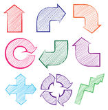 Arrows with different directions Royalty Free Stock Photo