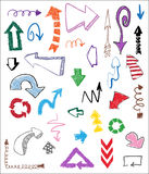 Arrows different shape hand draw Stock Photo