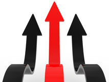 Arrows directed upwards Royalty Free Stock Photography