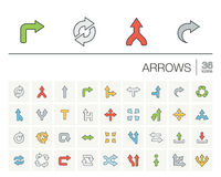 Arrows and direction color vector icons Stock Photography