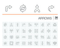 Arrows and direction vector icons Stock Images