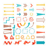 Arrows and directions signs Royalty Free Stock Images