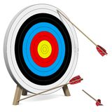 Arrows do not hit the Target Royalty Free Stock Photography