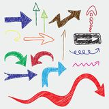 Arrows doodle Stock Photo
