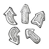 Arrows doodle set Royalty Free Stock Photo