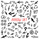 Arrows Doodle Set, hand drawn arrows set Royalty Free Stock Photos