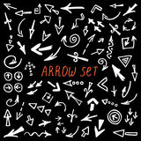 Arrows Doodle Set, hand drawn arrows set, sketched style Royalty Free Stock Image