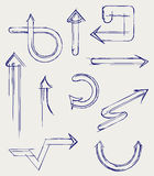 Arrows. Doodle style Stock Images