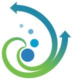 Arrows emblem. Illustrated isolated arrows emblem design Stock Image