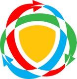 Arrows emblem Stock Photo