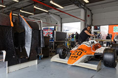 Arrows F1 in the pits Royalty Free Stock Image