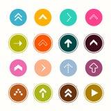 Arrows. Flat Design Arrow Collection in Colorful Circles. Vector App Symbols. Arrows. Flat Design Arrow Collection in Colorful Circles. Vector App Symbols stock illustration