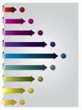 Arrows following dots Stock Photo