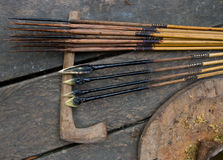 Free Arrows For Hunting Men Who Use Mentawai Tribe. Stock Photo - 81022910