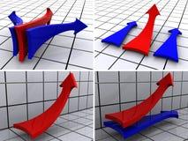 Arrows four variants Stock Image