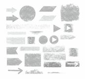 Arrows, frames, banners, graphite, pencil, white background, infographics. Royalty Free Stock Images