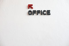 Arrows go to office Royalty Free Stock Image