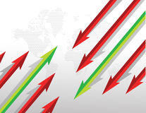 Arrows going in opposite directions. Royalty Free Stock Photo