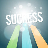 Arrows Going for Success Royalty Free Stock Photos