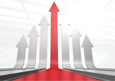 Arrows going up. Digital composite of arrows going up Royalty Free Stock Photo
