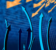 Arrows Going Up Shows Increase Rising And Advance Stock Photography