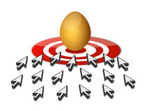 Arrows. golden egg hunting Royalty Free Stock Photos