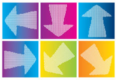 Arrows on gradient backgrounds Royalty Free Stock Image