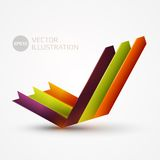 Arrows graph vector illustration Royalty Free Stock Images