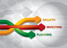 Arrows of growth Royalty Free Stock Images