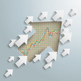 Arrows Growth Stock Exchange Royalty Free Stock Photography