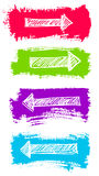 Arrows and Grunge Color Brush Stock Image