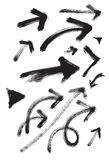 Arrows in  grunge. (vector set). Expressional picture. Whirlwind and energy of movement Royalty Free Stock Photos