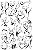 Arrows hand draw element collection Royalty Free Stock Image
