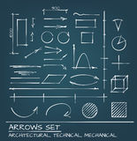 Arrows Hand Drawn Set Stock Image