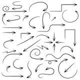 Arrows. Hand written filigree set. Vector illustration isolated on white background vector illustration