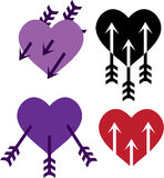 Arrows in the heart Stock Photo