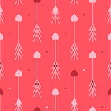 Arrows with hearts seamless pattern. Arrows with hearts abstract seamless pattern. Good for textile and paper print, card, poster, another design. Cute Saint Stock Photography