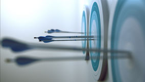 Arrows hit targets Stock Photos