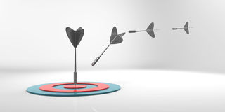 Arrows hit target. Royalty Free Stock Photo