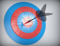 Arrows hit target. Stock Image