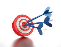 Arrows hit targets. Royalty Free Stock Photos