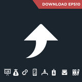 Arrows icon Modern, simple flat stock image