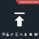 Arrows icon Modern, simple flat royalty free stock image