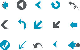 Arrows Icon Set Royalty Free Stock Images
